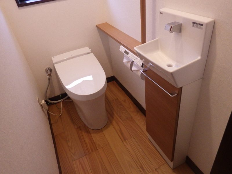 広くてキレイになったトイレのリフォーム