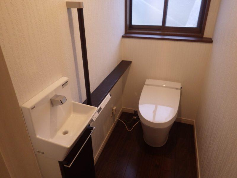 シックで統一感のあるトイレのリフォーム